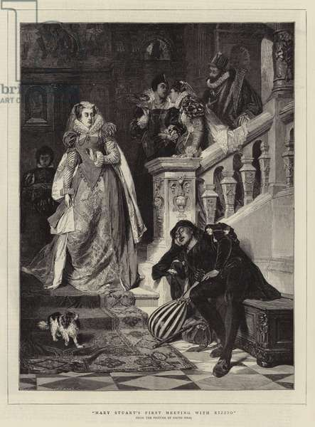 Mary Stuart's First Meeting with Rizzio (engraving)