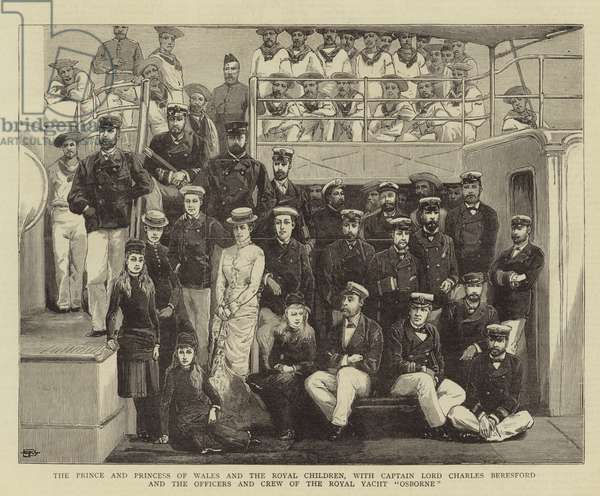 The Prince and Princess of Wales and the Royal Children, with Captain Lord Charles Beresford and the Officers and the Crew of the Royal Yacht