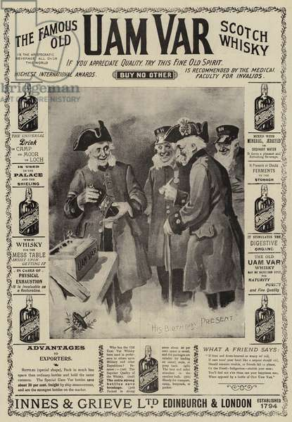 Advertisement, Uam Var Scotch Whisky (engraving)