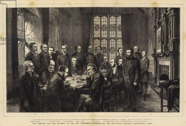 The Company for the Revision of the Old Testament assembled in the Jerusalem Chamber, Westminster Abbey (engraving)