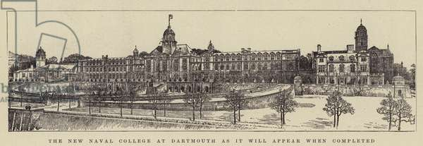The New Naval College at Dartmouth as it will appear when completed (engraving)