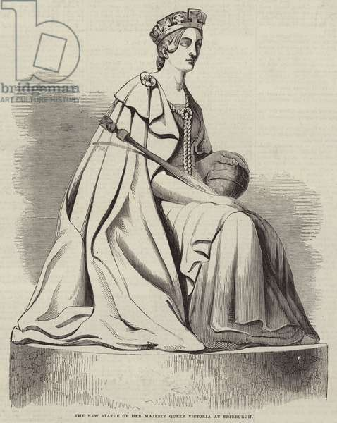 The New Statue of Her Majesty Queen Victoria at Edinburgh (engraving)