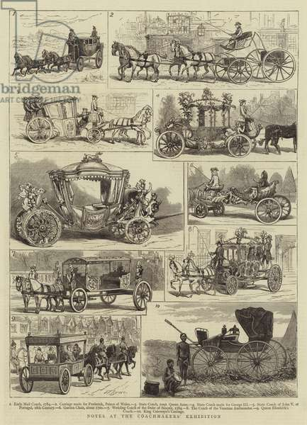 Notes at the Coachmakers' Exhibition (engraving)