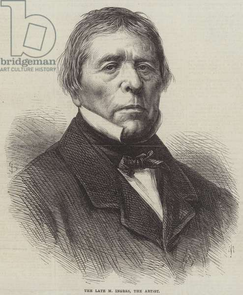 The late M Ingres, the Artist (engraving)