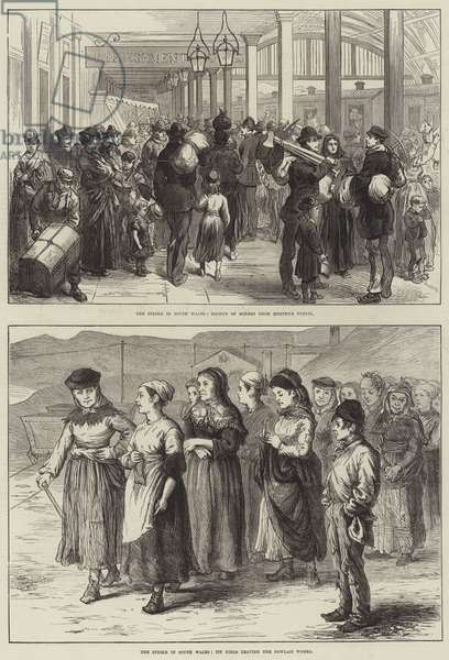 The Strike in South Wales (engraving)