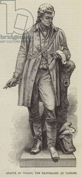 Statue of Wilson, the Naturalist, at Paisley (engraving)