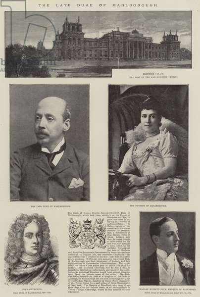 The late Duke of Marlborough (engraving)