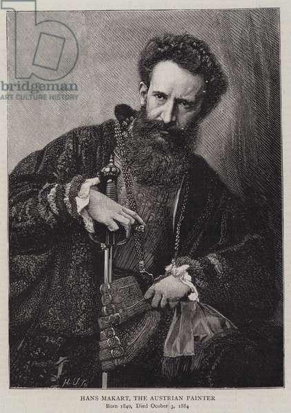 Hans Makart, the Austrian Painter (engraving)