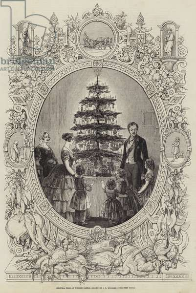 Christmas Tree at Windsor Castle (engraving)