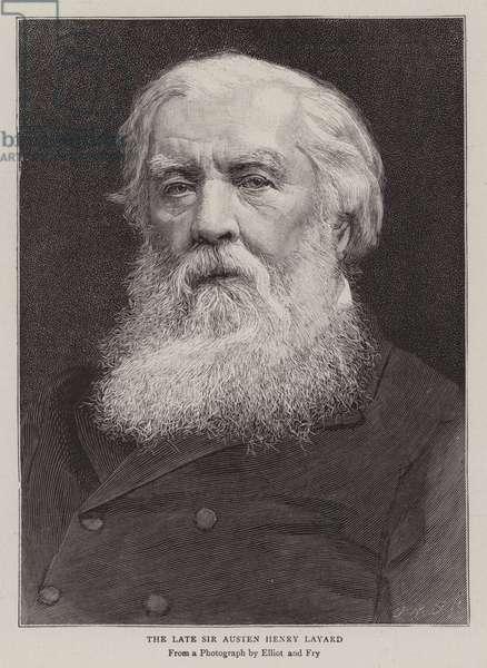The Late Sir Austen Henry Layard (engraving)