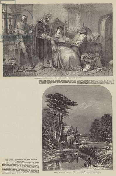 Fine Arts, Exhibition of the British Institution (engraving)