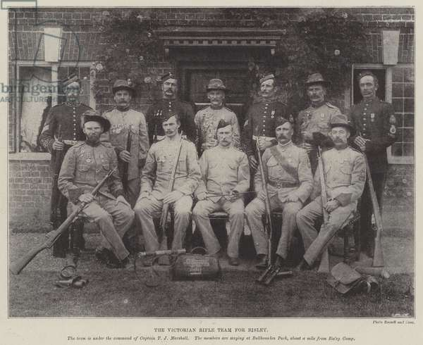 The Victorian Rifle Team for Bisley (b/w photo)
