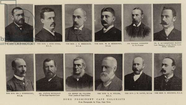 Some Prominent Cape Colonists (b/w photo)