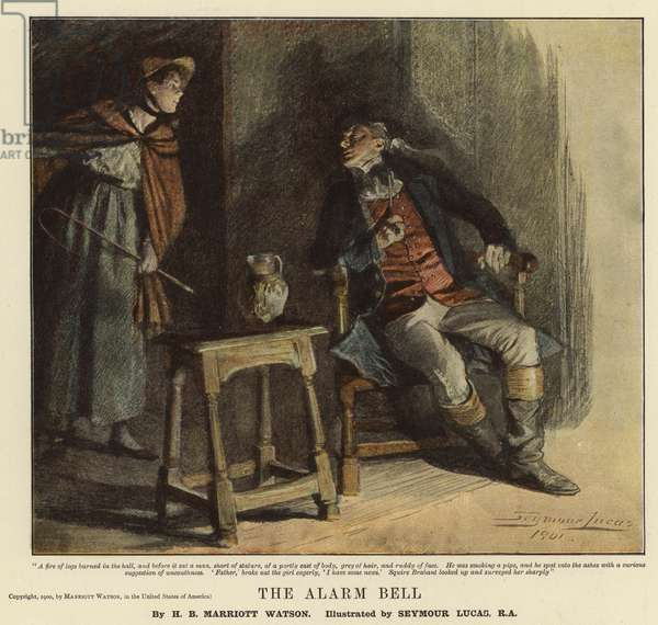 The Alarm Bell (colour litho)