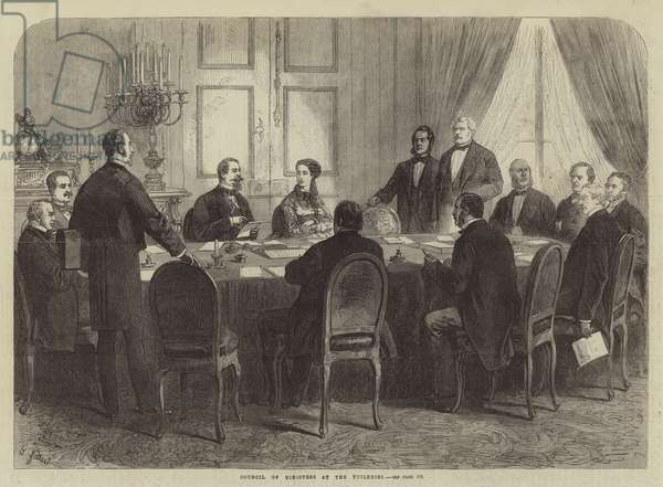 Council of Ministers at the Tuileries (engraving)