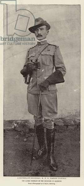 Lieutenant-General R S S Baden-Powell (b/w photo)