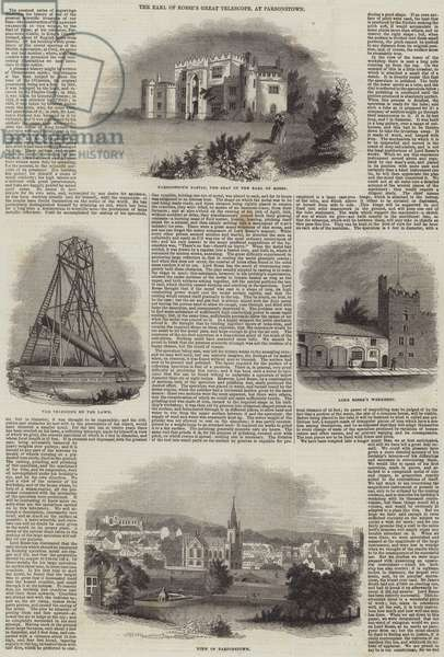 The Earl of Rosse's Great Telescope, at Parsonstown (engraving)
