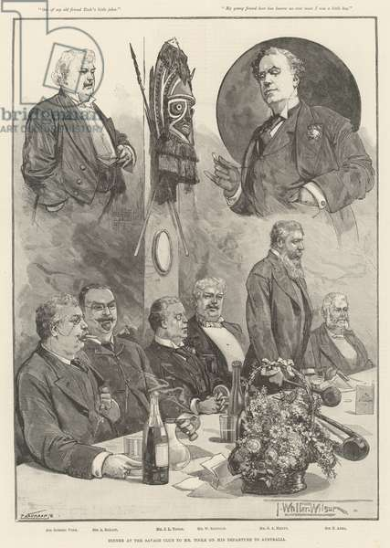 Dinner at the Savage Club to Mr Toole on his Departure to Australia (engraving)
