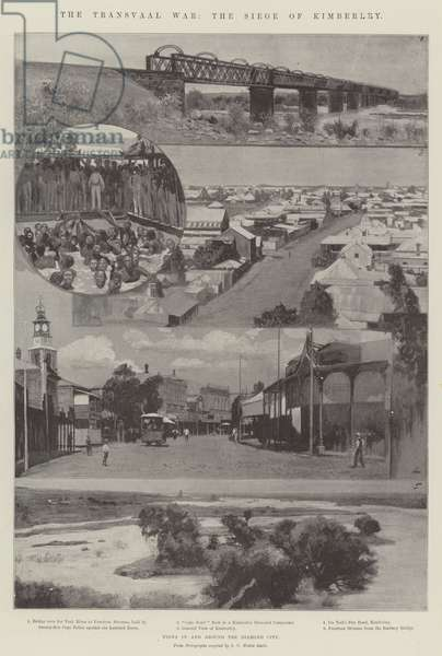 The Transvaal War, the Siege of Kimberley (litho)