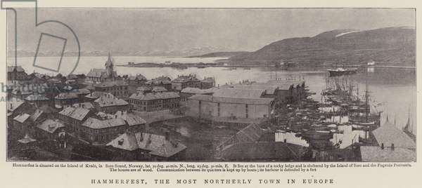 Hammerfest, the Most Northerly Town in Europe (b/w photo)