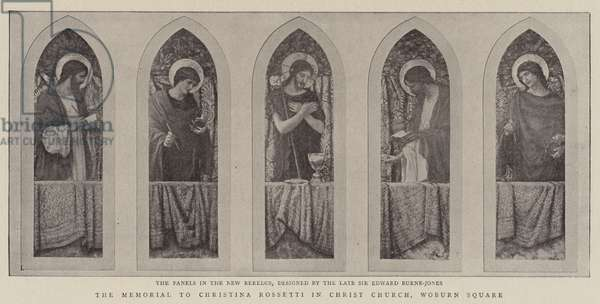 The Memorial to Christina Rossetti in Christ Church, Woburn Square (engraving)