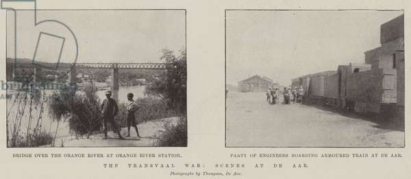 The Transvaal War, Scenes at De Aar (b/w photo)