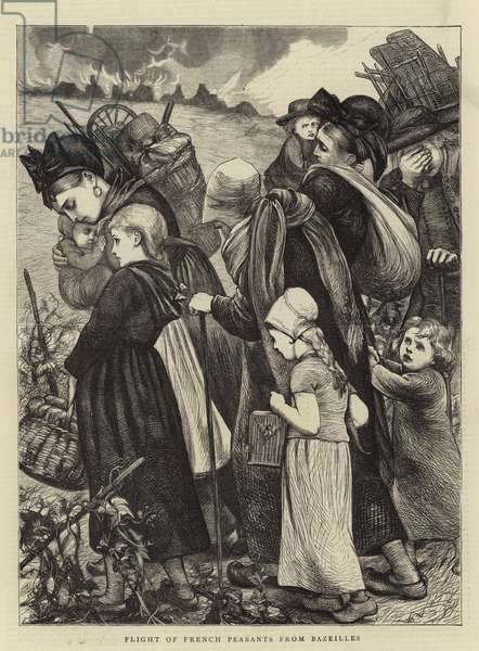 Flight of French Peasants from Bazeilles (engraving)