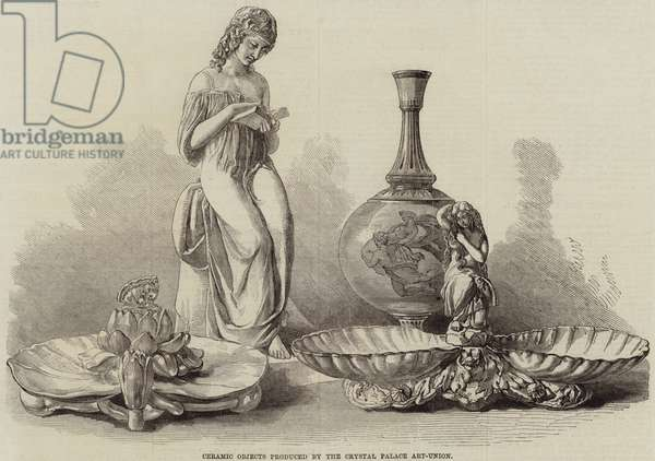 Ceramic Objects produced by the Crystal Palace Art-Union (engraving)