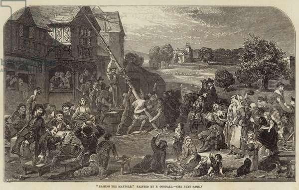 Raising the Maypole (engraving)