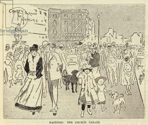 Hastings, the Church Parade (engraving)