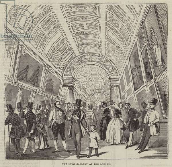 The Long Gallery at the Louvre (engraving)