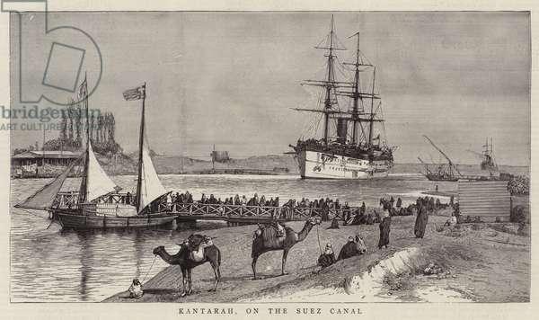 Kantarah, on the Suez Canal (engraving)
