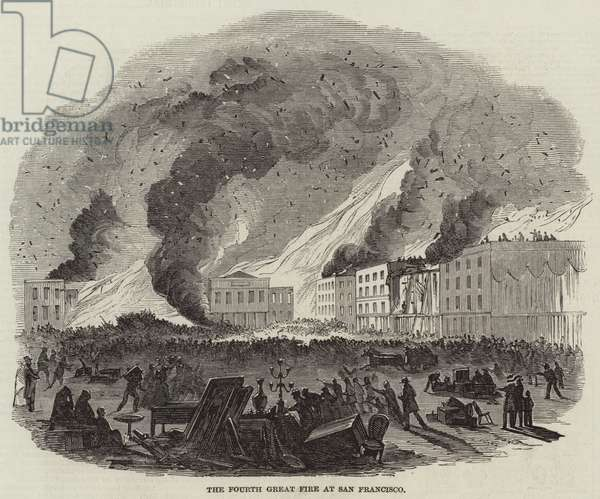 The Fourth Great Fire at San Francisco (engraving)