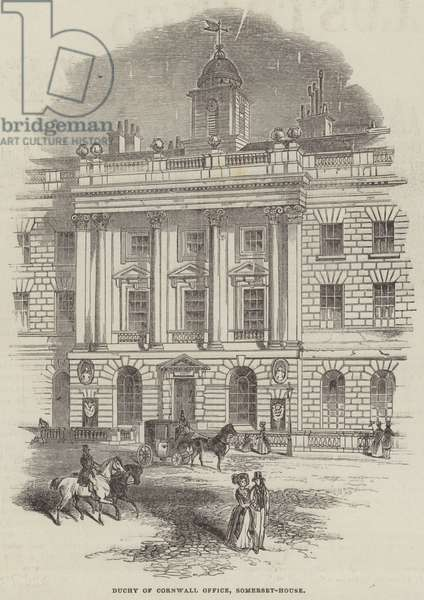 Duchy of Cornwall Office, Somerset-House (engraving)