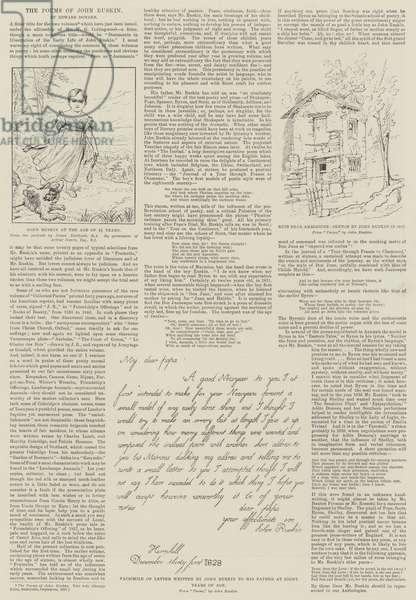 The Poems of John Ruskin (engraving)