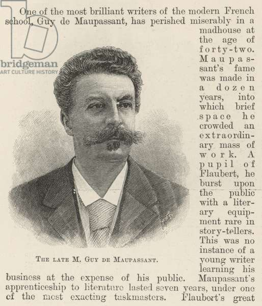 The late M Guy de Maupassant (engraving)