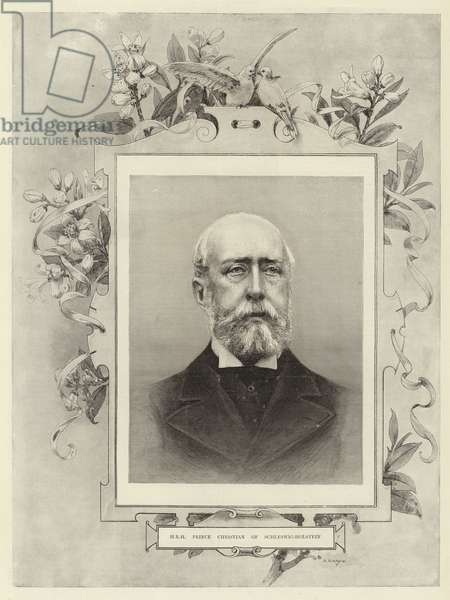H R H Prince Christian of Schleswig-Holstein (engraving)