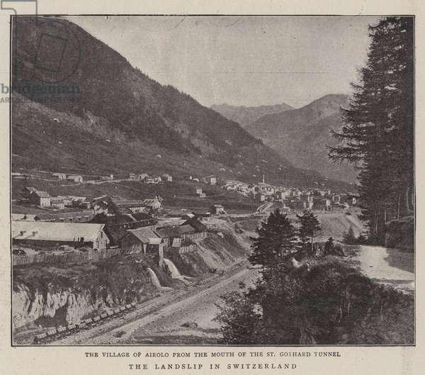 The Landslip in Switzerland (b/w photo)