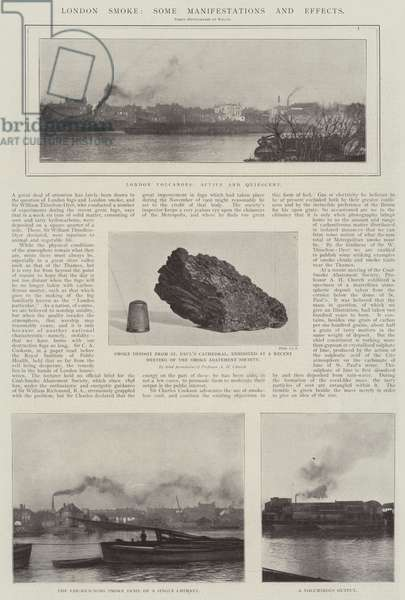 London Smoke, Some Manifestations and Effects (engraving)