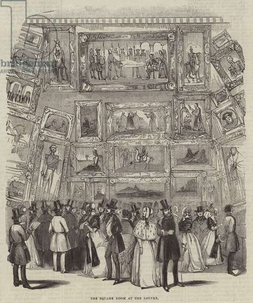 The Square Room at the Louvre (engraving)