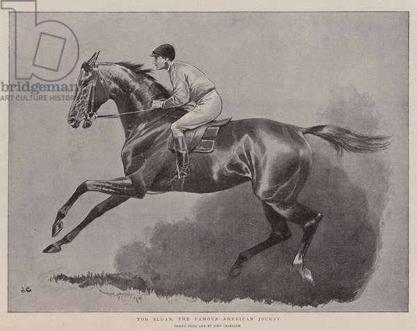 Tod Sloan, the Famous American Jockey (litho)
