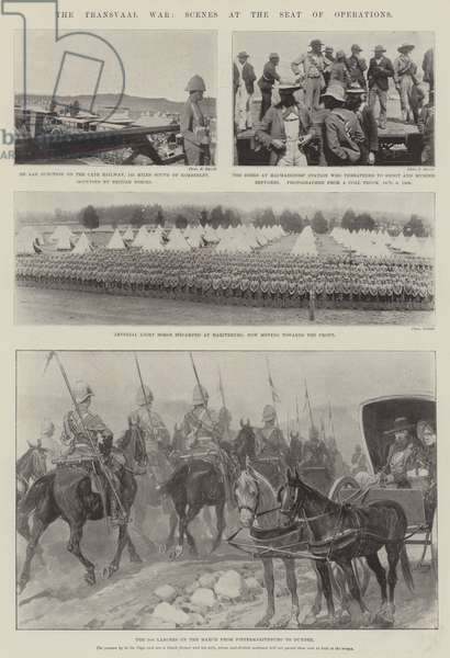 The Transvaal War, Scenes at the Seat of Operations (b/w photo)