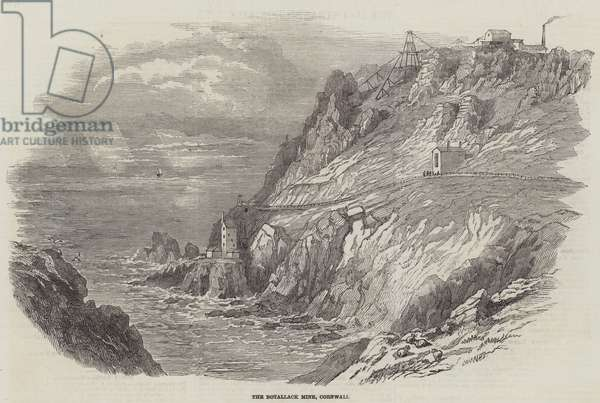 The Botallack Mine, Cornwall (engraving)