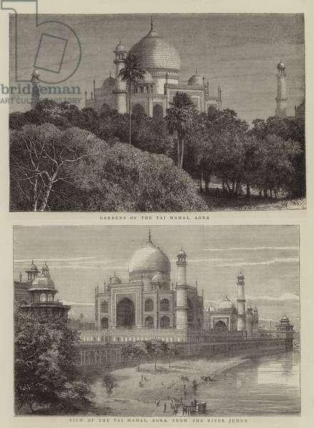 The Taj Mahal, Agra (engraving)
