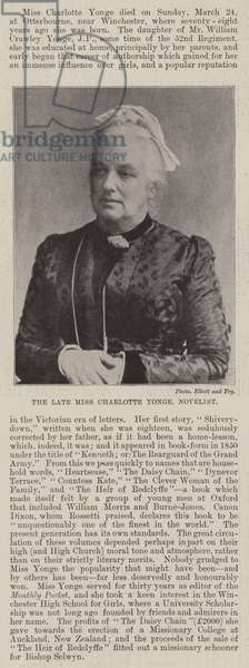 The late Miss Charlotte Yonge, Novelist (b/w photo)