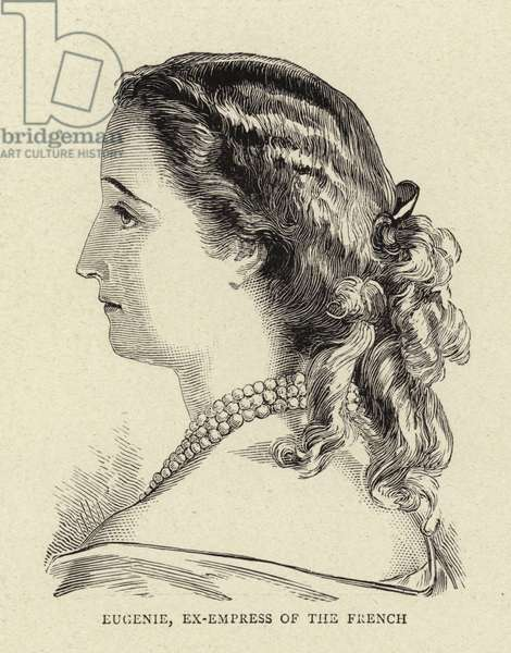 Eugenie, ex-Empress of the French (engraving)