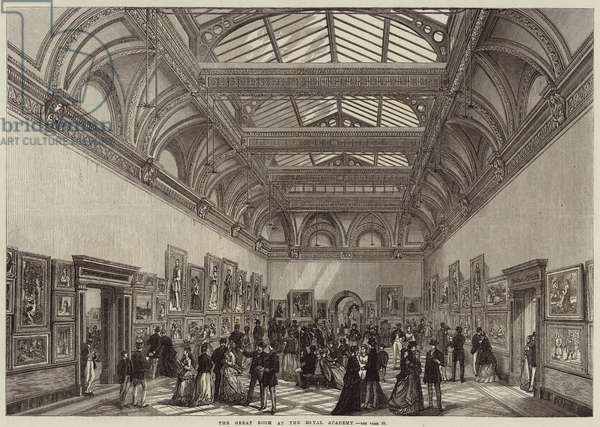 The Great Room at the Royal Academy (engraving)