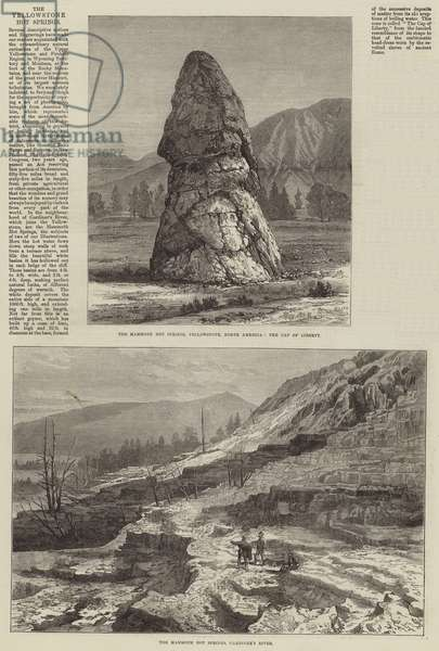 The Yellowstone Hot Springs (engraving)