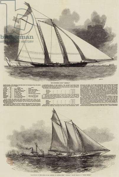 Royal Yacht Squadron Regatta (engraving)