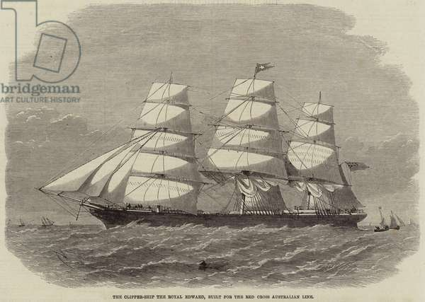 The Clipper-Ship the Royal Edward, built for the Red Cross Australian Line (engraving)
